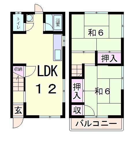 2LDK(左右反転タイプ)
