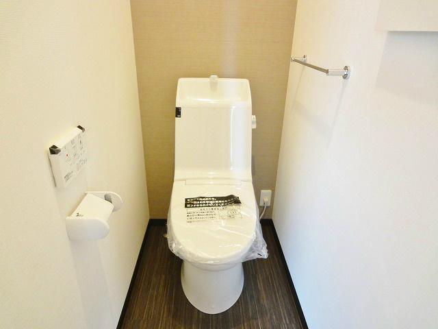 トイレのデザインもモダンでオシャレです。